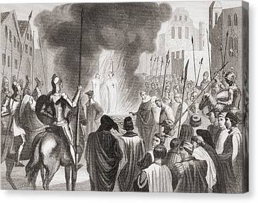 Templars Being Burnt At The Stake. From Canvas Print