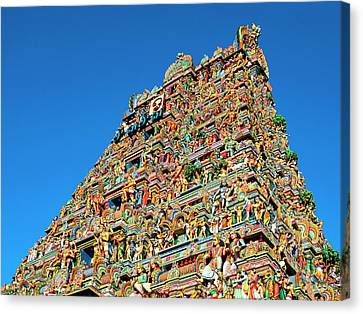 Temple At Mylapore Canvas Print by Dominic Piperata
