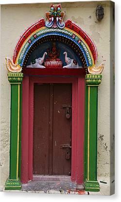 Temple Door Canvas Print by Deepak Pawar
