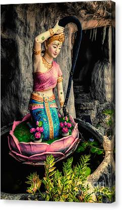 Temple Lady Statue Canvas Print by Adrian Evans