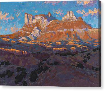 Temple Mountain Tapestry Canvas Print