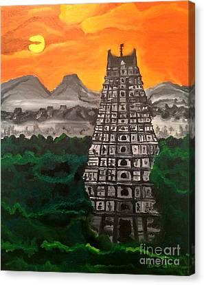 Temple Near The Hills Canvas Print