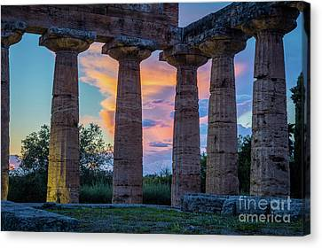 Temple Of Athena Columns Canvas Print by Inge Johnsson