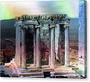 Canvas Print featuring the photograph Temple Of Athena by Robert G Kernodle