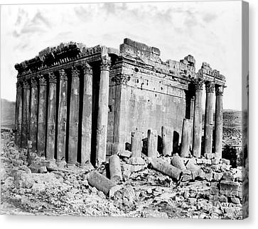 Temple Of Bacchus, Baalbek, 19th Century Canvas Print by Science Source