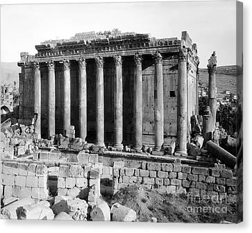 Temple Of Bacchus, Baalbek, Early 20th Canvas Print by Science Source