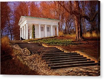 Temple Of Diana Lazienki Park Warsaw  Canvas Print