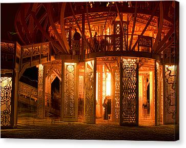Temple Of Fire Canvas Print by Michael Cleere