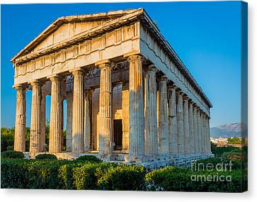 Temple Of Hephaestus Canvas Print by Inge Johnsson