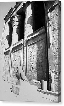 Canvas Print featuring the photograph Temple Of Horus by Silvia Bruno