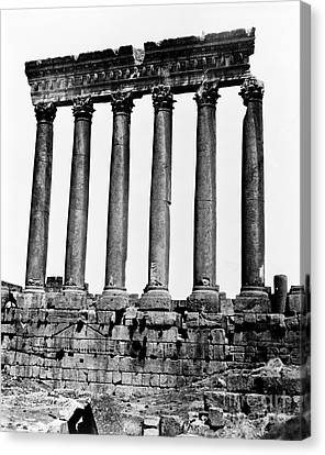 Temple Of Jupiter Colonnade, Baalbek Canvas Print by Science Source