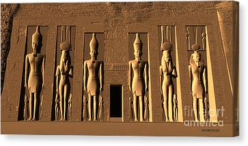 Temple Of Nefertari Canvas Print