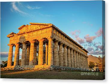 Temple Of Neptune Canvas Print by Inge Johnsson