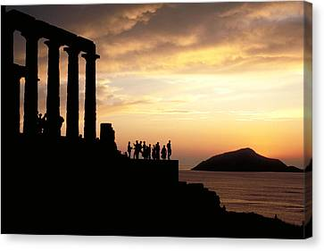 Temple Of Poseiden In Greece Canvas Print