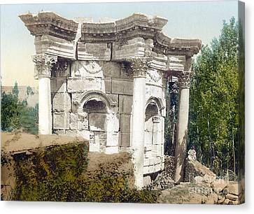 Temple Of Venus, Baalbek, 1890s Canvas Print by Science Source