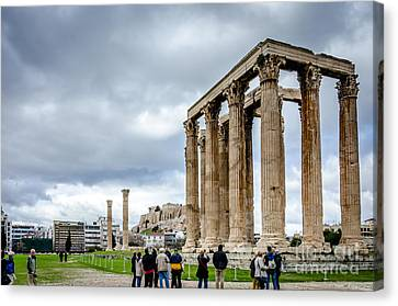 Temple Of Zeus And Acropolis - Athens Greece Canvas Print