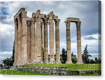 Temple Of Zeus - Athens Greece Canvas Print