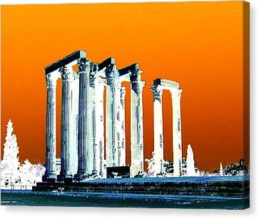 Temple Of Zeus, Athens Canvas Print