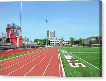Temple Owls - Dan And Shelley Boyce Track Canvas Print by Bill Cannon