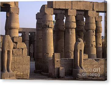 Temple Ruins At Karnak, Luxor, Egypt Canvas Print by Will & Deni McIntyre