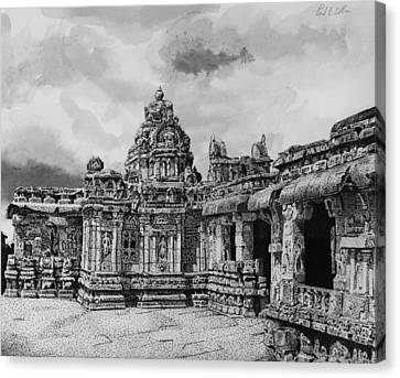 Temple Ruins Canvas Print by Paul Illian