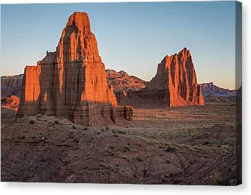 Temples Of The Sun And Moon Canvas Print by James Udall