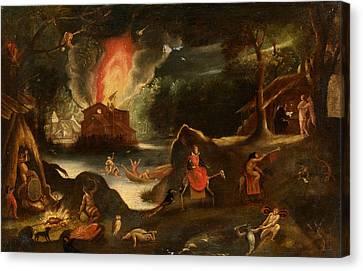 Temptation Of Saint Anthony Canvas Print