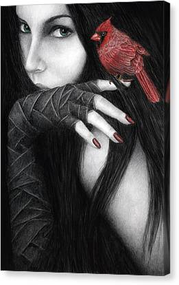 Goth Canvas Print - Temptation by Pat Erickson
