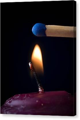 Flickering Light Canvas Print - Tempting Fate by Jim DeLillo