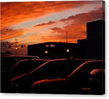 Canvas Print featuring the digital art Ten Fourteen P.m. by Jana Russon