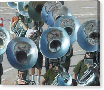 Ten Tubas Canvas Print by David Clemons