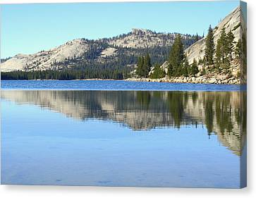 Canvas Print featuring the photograph Tenaya Lake Reflections by Lynn Bawden