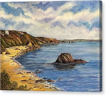 Tenby Beach Canvas Print