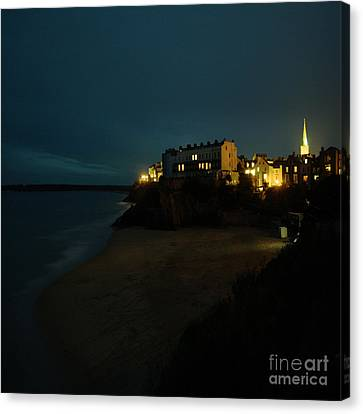 Tenby By Night Canvas Print