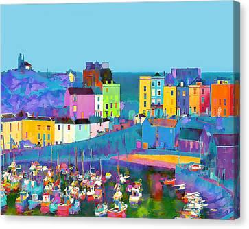 Tenby Harbour  I Canvas Print