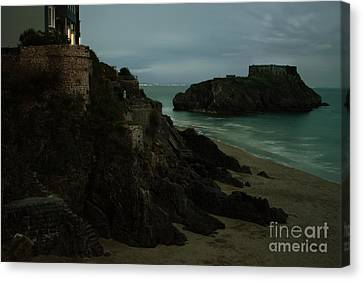 Tenby In The Night Canvas Print