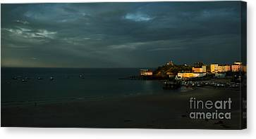 Tenby In The Setting Sun Canvas Print