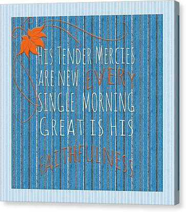 Tender Mercies Canvas Print by Bonnie Bruno