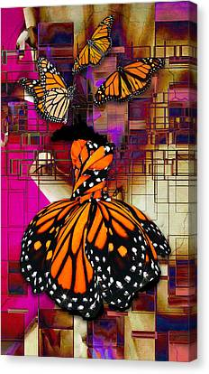 Canvas Print featuring the mixed media Tenderly by Marvin Blaine