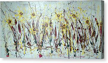 Tending My Garden Canvas Print by J R Seymour