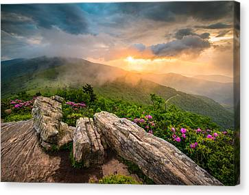 Tennessee Appalachian Mountains Sunset Scenic Landscape Photography Canvas Print by Dave Allen