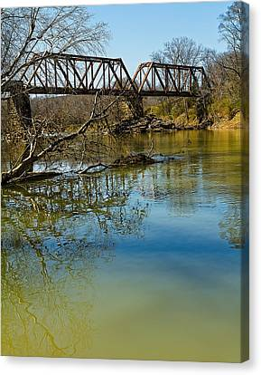 Canvas Print featuring the photograph Tennessee Backwater by Ron Dubin
