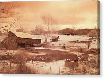 Tennessee Farmland Canvas Print by Jim Cook