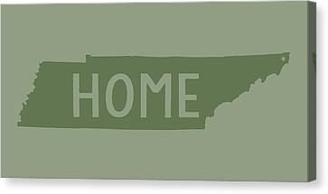 Canvas Print featuring the digital art Tennessee Home Green by Heather Applegate