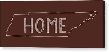 Canvas Print featuring the digital art Tennessee Home by Heather Applegate