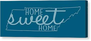 Canvas Print featuring the digital art Tennessee Home Sweet Home by Heather Applegate