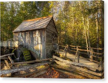 Grist Mill Canvas Print - Tennessee Mill by Mike Eingle