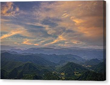 Tennessee Mountains Sunset Canvas Print