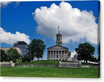 Tennessee State Capitol Nashville Canvas Print by Susanne Van Hulst