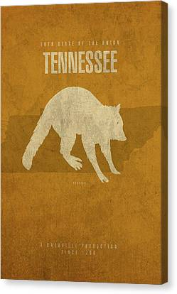 Movie Poster Canvas Print - Tennessee State Facts Minimalist Movie Poster Art by Design Turnpike